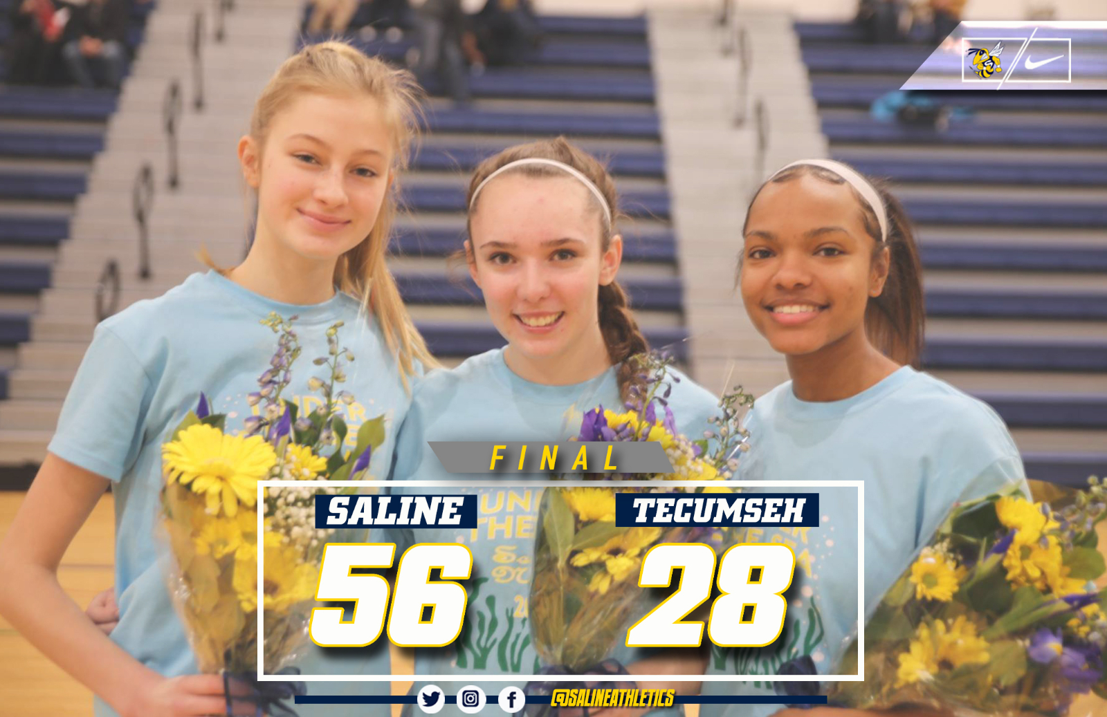 "@TheSalinePost: Girls Make ""Herstory"" on Senior Night, Tying Record with 18 Wins"