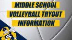 Middle School Volleyball Tryout Info