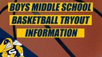 Boys Middle School Basketball Tryout Information