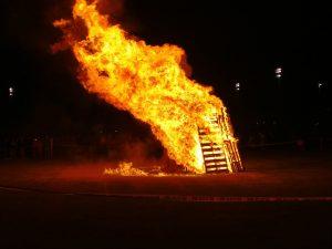 AFHS Students Celebrate Homecoming Week Bonfire Night