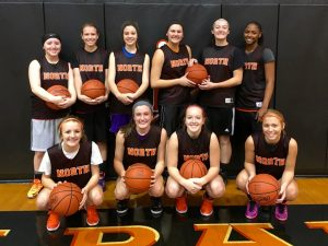 North varsity girls' basketball 2015-2016