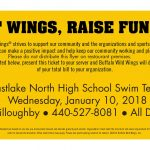 Eat Wings-Raise Funds for the Swim Team