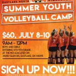 Eastlake North Youth Volleyball Camp Information, July 8-10 from 9am-Noon
