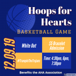 Hoops for Hearts – White Out Monday Night!
