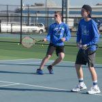 Boys Tennis Eli Teal and John Kelley
