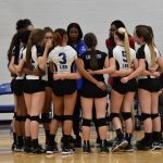 Volleyball Game Team Huddle