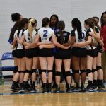 Volleyball Game Huddle