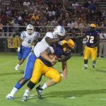 Zion Logue Sacks QB Friday night against Trousdale County.