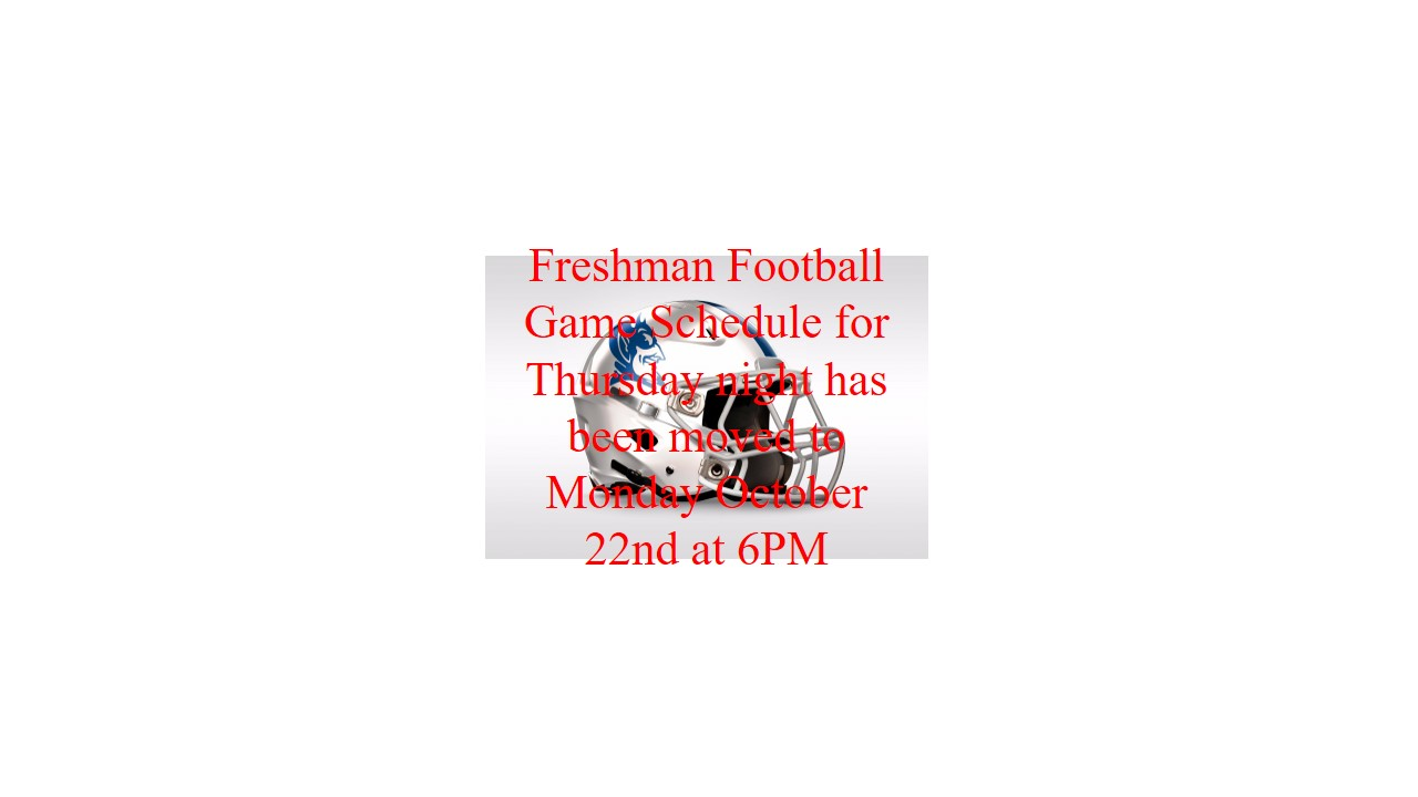 CHANGE IN DATES–Undefeated LHS Freshman Football vs. undefeated Mt. Juliet Freshman Football on October 22nd at 6pm