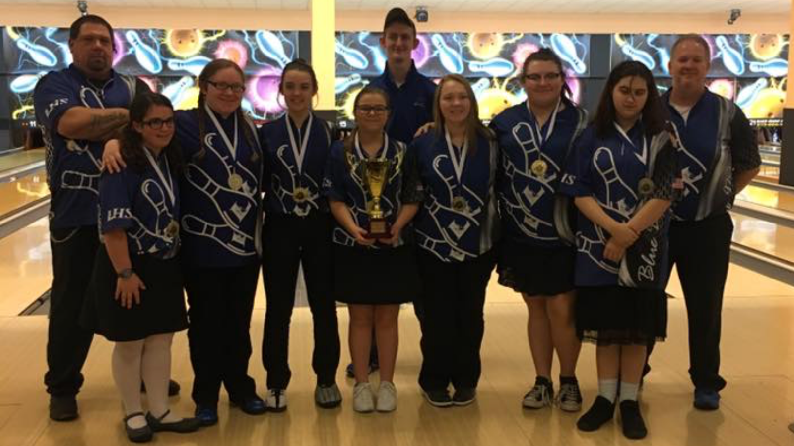 Girls Bowling Team 2018 Lindsey Wilson College Winter Showcase Champions