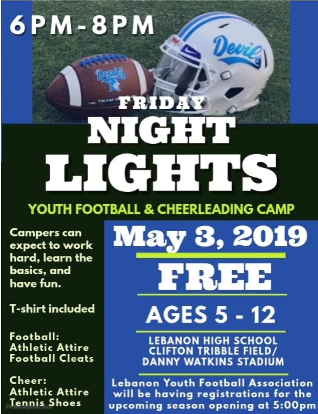 FREE Youth Football & Cheerleading Camp