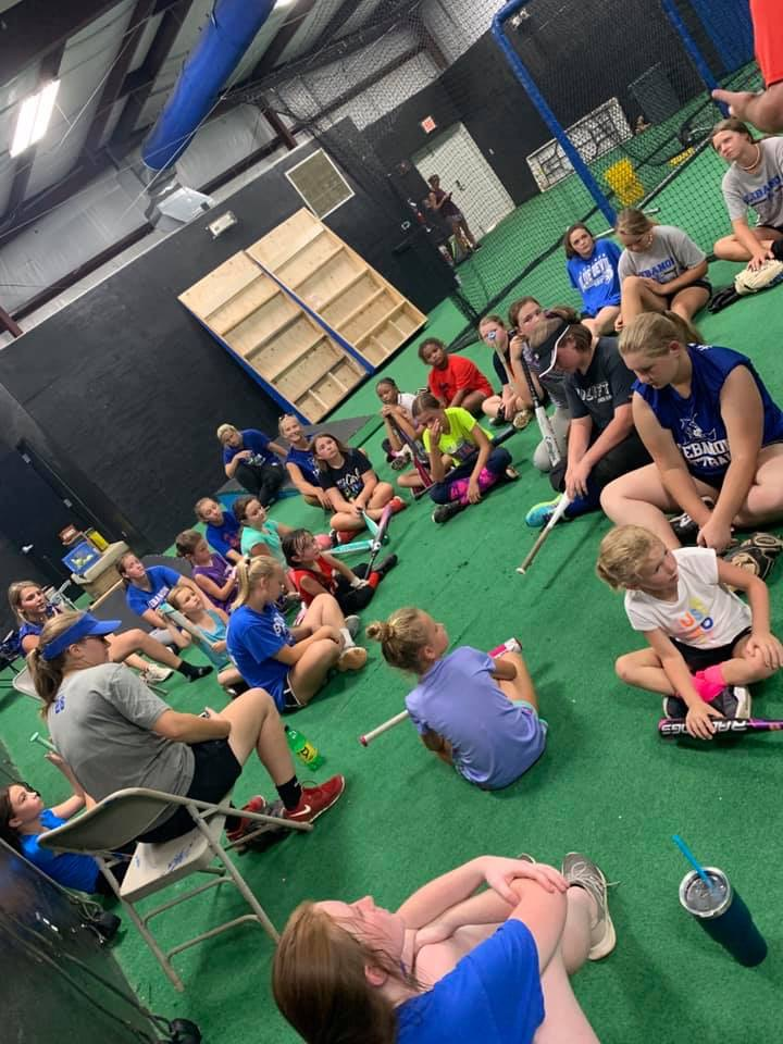 softball camp day 1