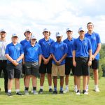 Boys Varsity Golf Ties for 1st place in their last match of the regular season