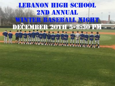 2nd Annual Winter Baseball Night for Ages 5-14 on December 20th