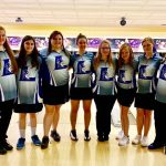 Lady Blue Devils Bowling team advance to the District Semifinal round defeating Merrol Hyde 26-1