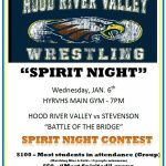 Battle of the Bridge! Spirit Night competition! Show your spirit! Earn money for your team or club!