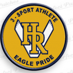3-Sport Athlete patch awarded at June 7th Spaghetti Banquet!