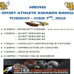 3-Sport Athlete Banquet – Save the date – June 7th, 6:30pm