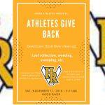 Athletes Give Back event – Nov. 17