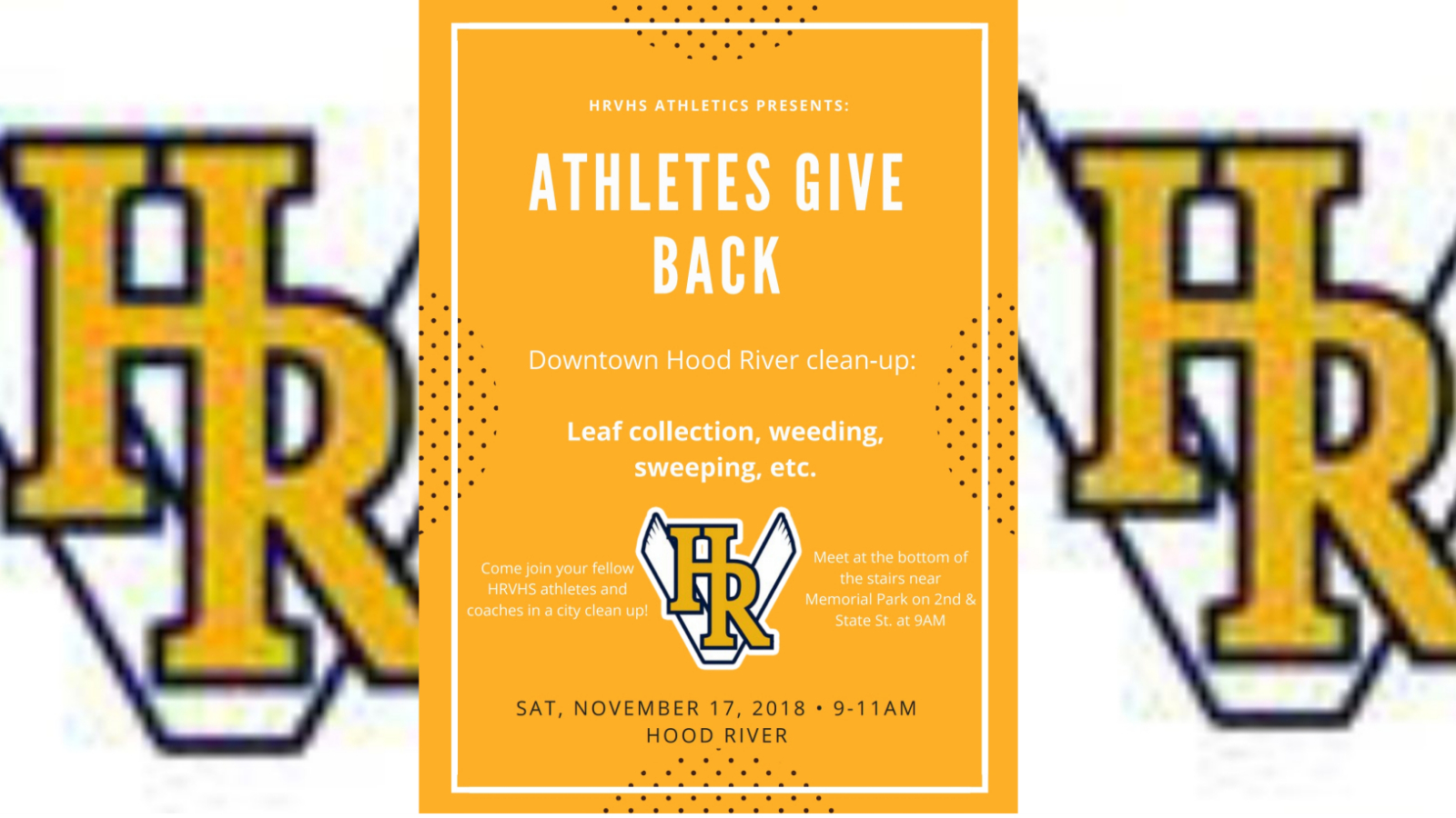 Athletes Give Back event – Nov. 17