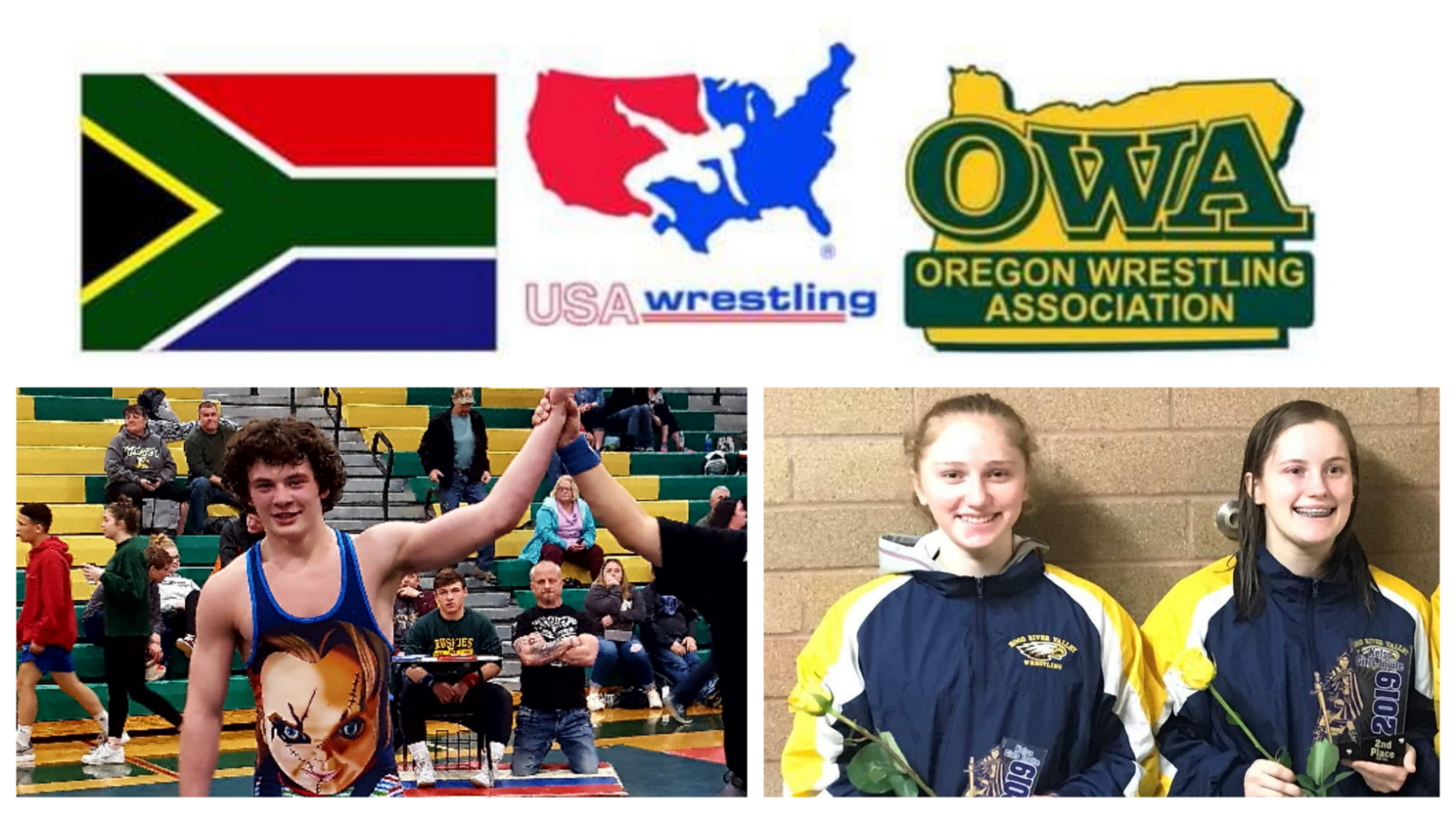 Muenzer, Sullenger & Kroll earn spot on Oregon Cultural Exchange Wrestling Team to South Africa in July