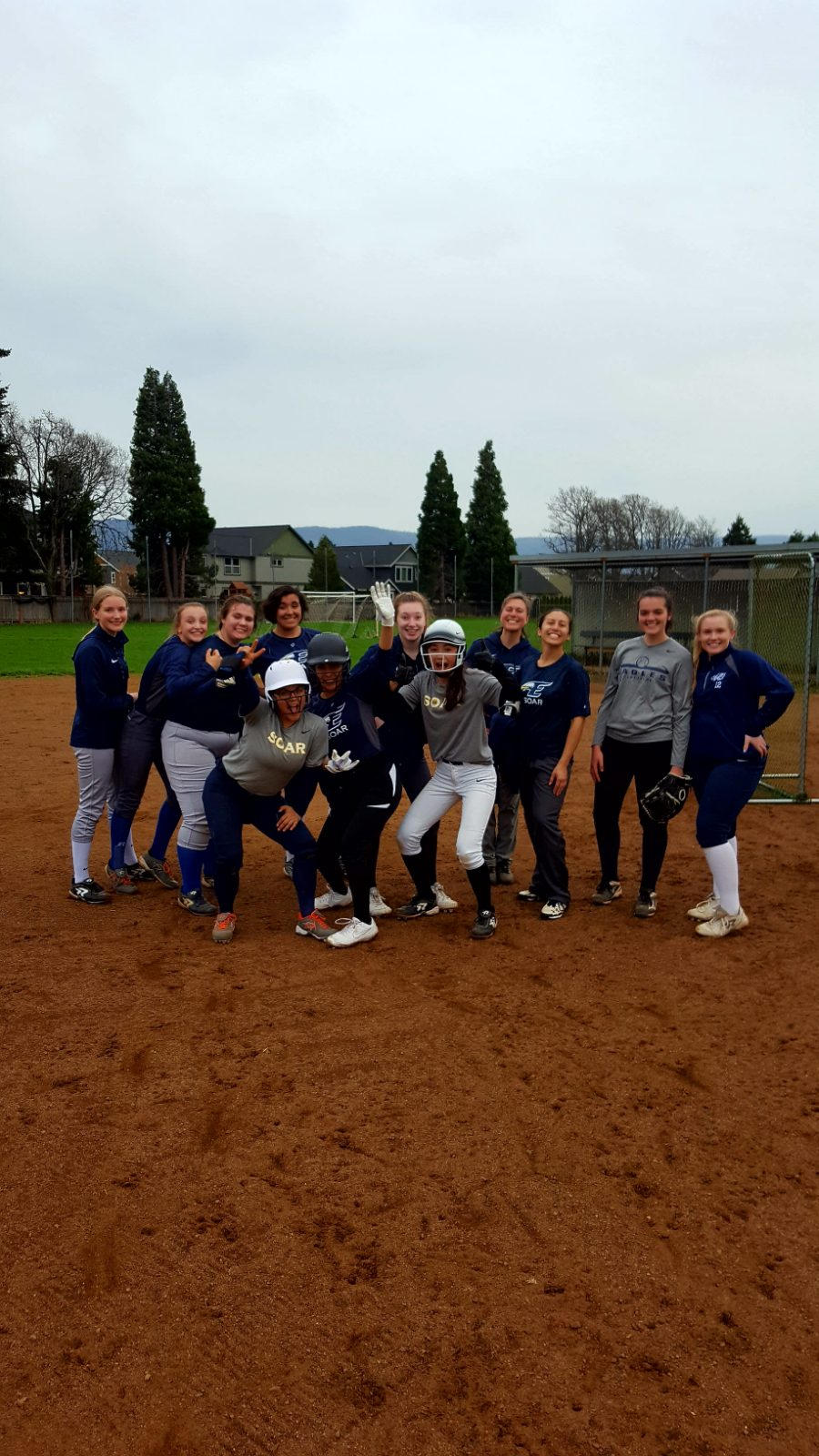 Softball game changed to home today,  April 3rd!