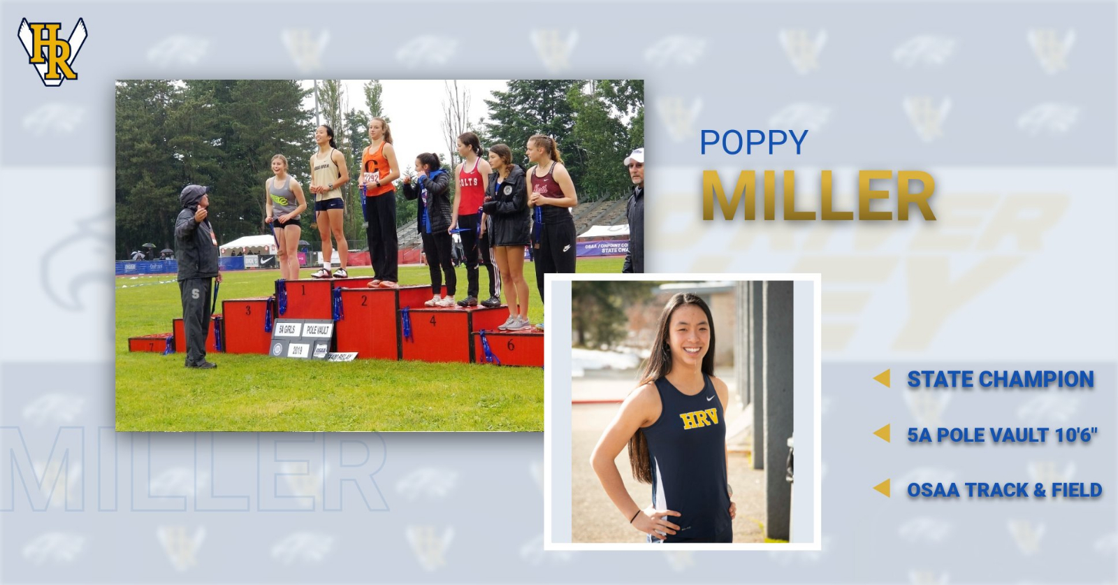 POPPY MILLER EARNS STATE CHAMPIONSHIP IN 5A POLE VAULT!
