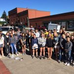 HRVHS Athletes Give Back in Downtown Hood River Community