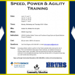 Speed, Power & Agility Training for 5th-8th at HRVHS this Summer!!!