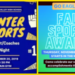 Today & Tomorrow!! Winter Sports Parent Night & All Fall Sports Awards Night