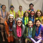 Swimmers Celebrate Seniors with Win over The Riverhawks