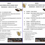 HRVHS SPRING SPORTS PARENT NIGHT – MARCH 4TH, 6:30PM