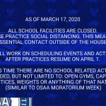 Update on HRVHS Spring Sports