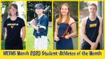 Congratulations HRVHS 2020 March Student-Athletes of the Month