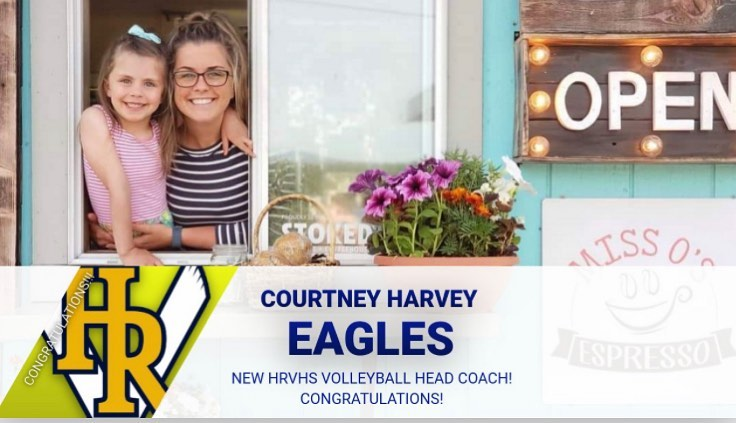 HRVHS hires Courtney Harvey as new Head Volleyball Coach! 🦅