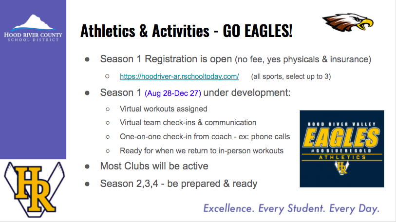 Registration is open for HRVHS Season 1 Sports and Clubs