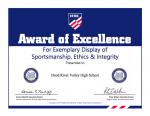 HOOD RIVER VALLEY HIGH SCHOOL RECIPIENT OF NATIONAL AWARD
