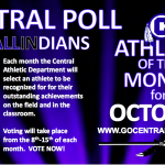 Indians October Athlete of the Month Poll