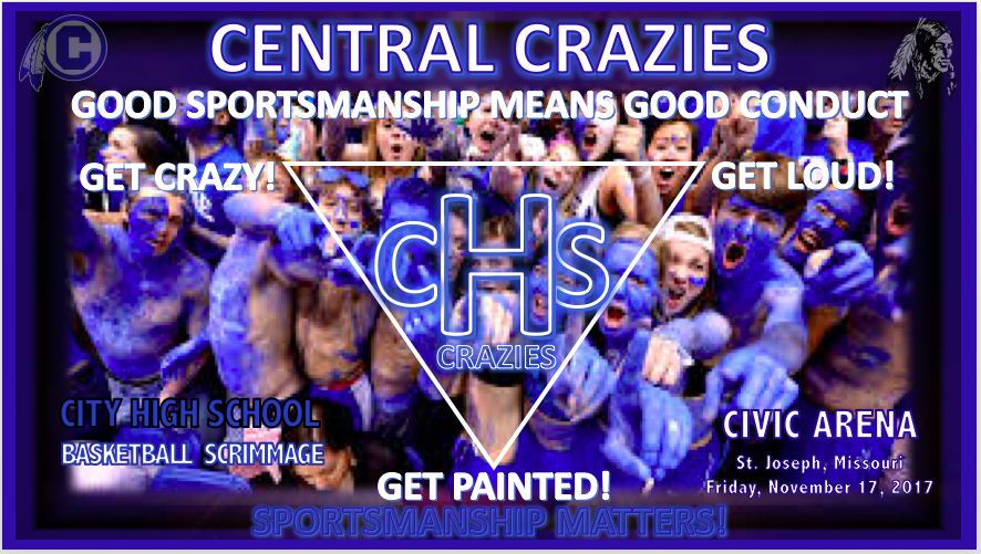 CENTRAL CRAZIES GET READY TO CHEER