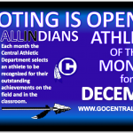 INDIANS DECEMBER ATHLETE OF THE MONTH – VOTING IS OPEN!