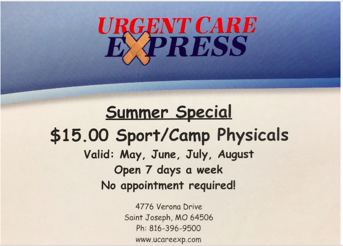 SUMMER SPORT PHYSICAL SPECIAL