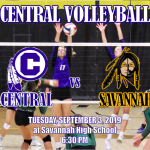 CENTRAL VOLLEYBALL OPENS AT SAVANNAH