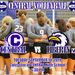 CENTRAL VOLLEYBALL HOSTS LIBERTY NORTH