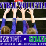 CENTRAL VOLLEYBALL HOSTS STALEY IN THE COLISEUM