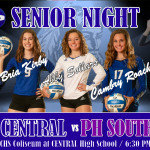 CENTRAL VOLLEYBALL CELEBRATES 3 SENIORS