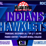 INDIANS TO PARTICIPATE IN 40th WILLIAM JEWELL HOLIDAY CLASSIC