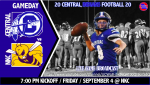 CENTRAL INDIANS VISIT NKC IN CONFERENCE OPENER