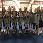 Girls Varsity Gymnastics finishes 1st place at SFHS Meet