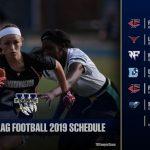 West Girls Flag Football Inaugural Season Schedule 2019