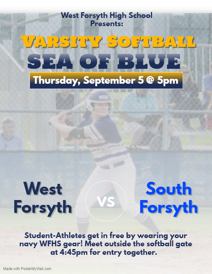 "Lets Create a ""Sea of Blue"" for Varsity Softball!!"